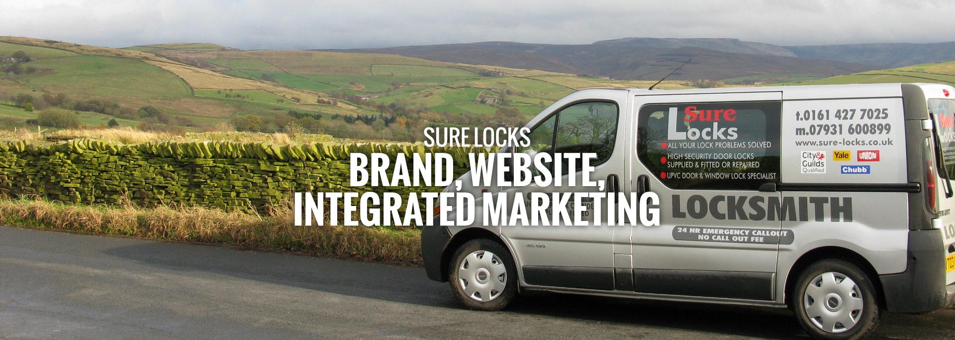 Sure locks brand and website design marketing