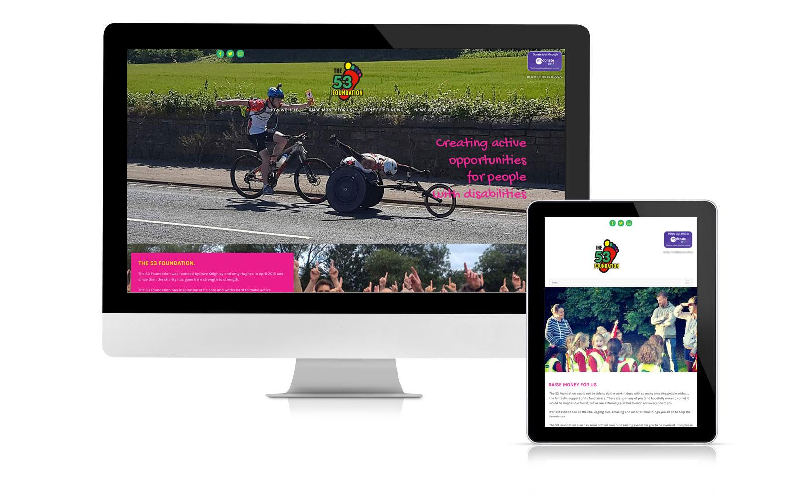 The 53 Foundation website branding