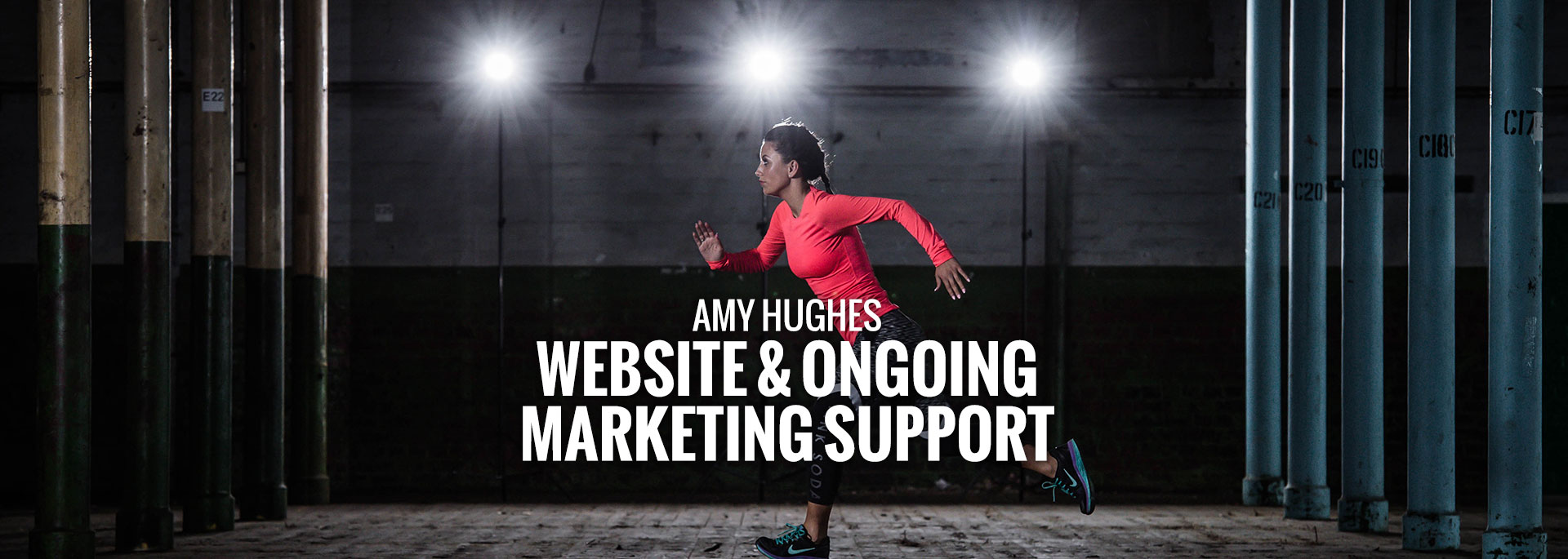 Amy Hughes Website and ongoing marketing