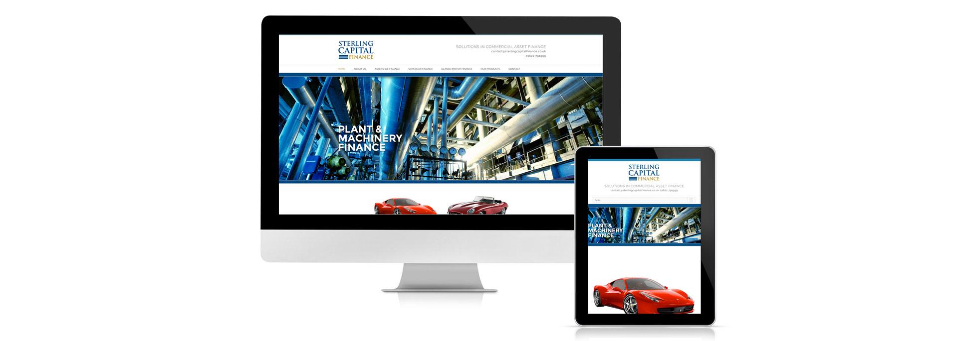 Sterling Capital Finance website design