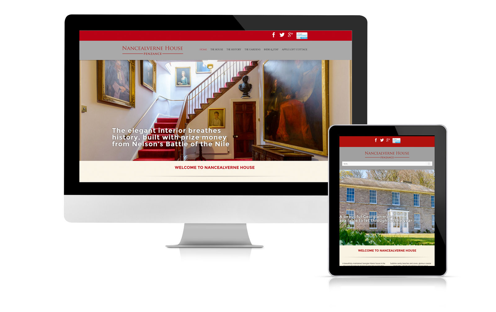 Nancealverne House website design
