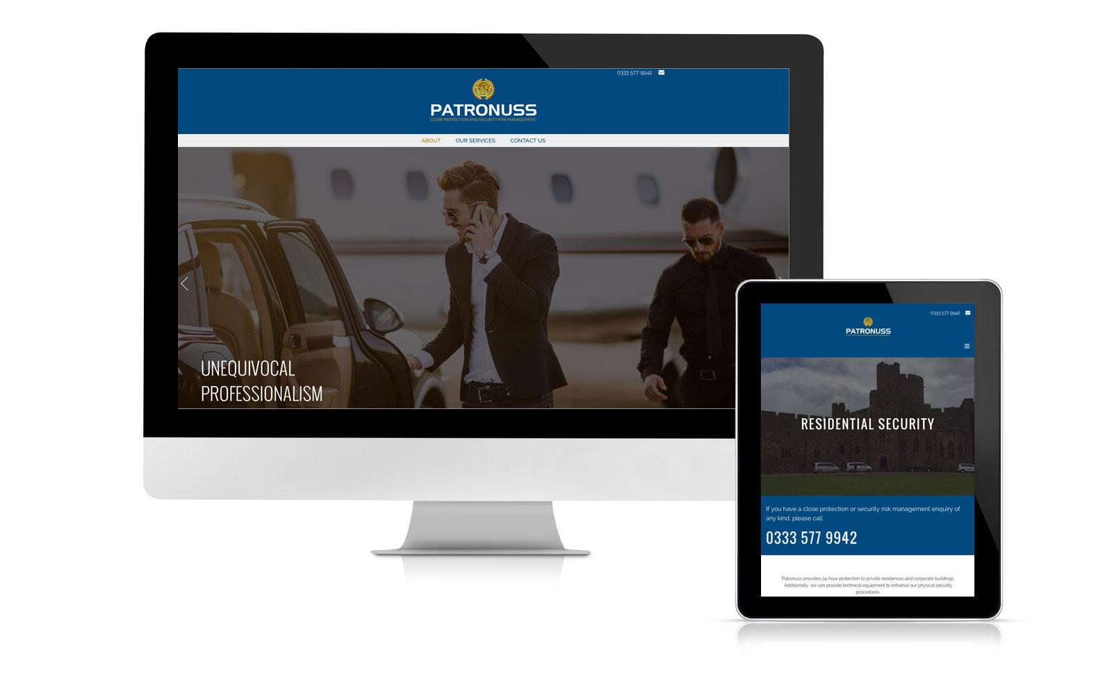Patronuss website branding and marketing