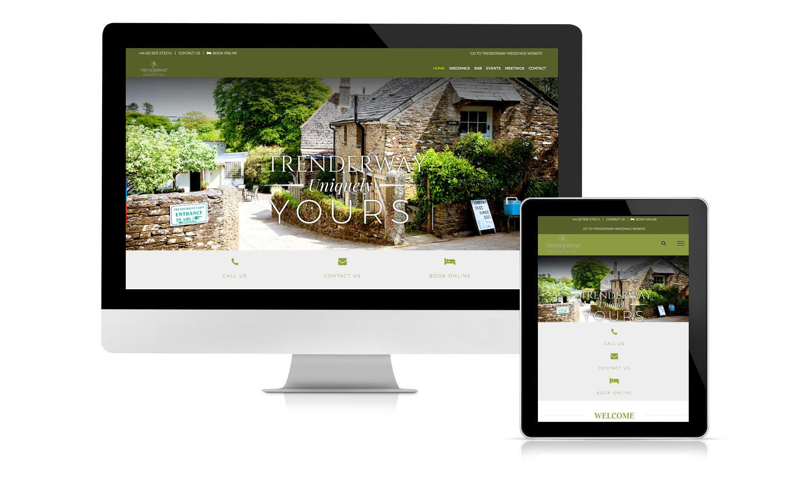 Trenderway website design